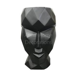 Donica designerska - głowa, czarna, M