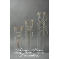 Szklany świecznik dekoracyjny (zawieszka), średni