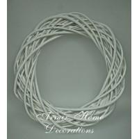 Wianek wiklina, biały, 40cm