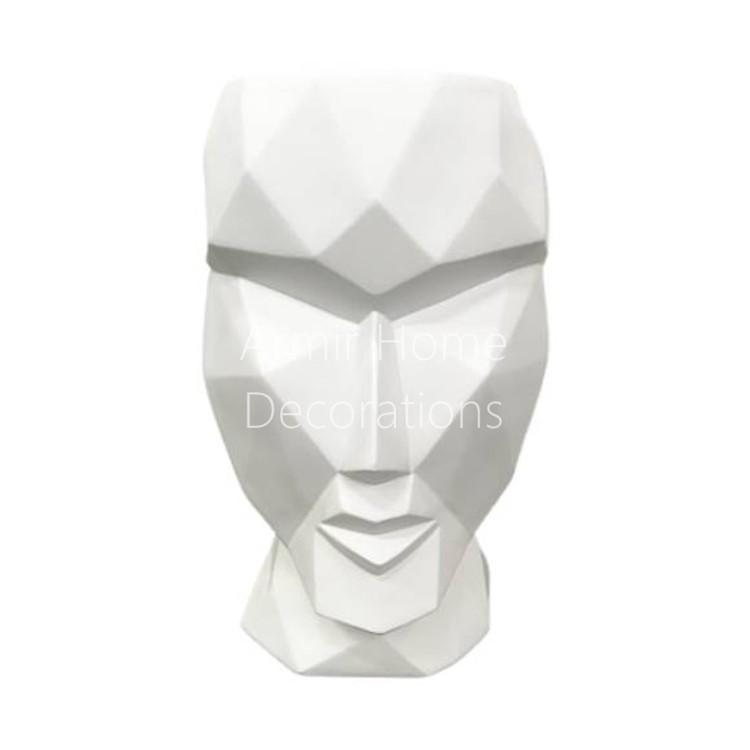 Donica designerska - głowa, biała, L