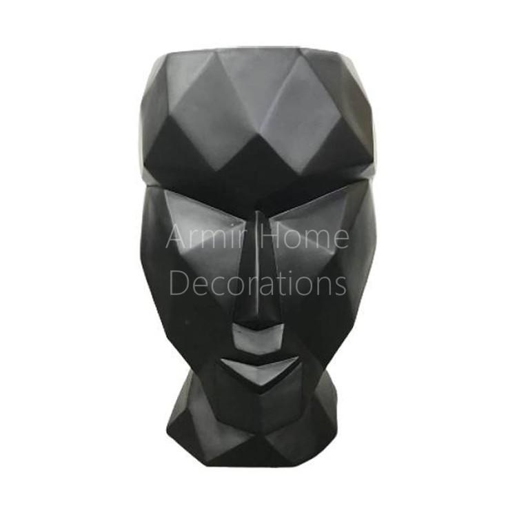 Donica designerska - głowa, czarna, L